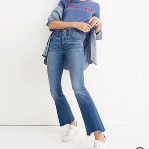 madewell cali denim boot jeans - deconstructed hem
